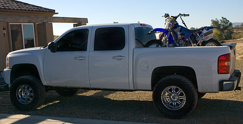 Jeremy Lusk's truck and Bike