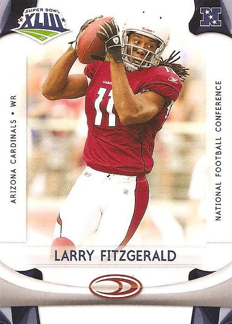more photos 62760 44425 Donruss Super Bowl card show: Larry Fitzgerald football ca ...