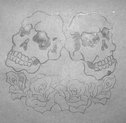 Caveiras E Rosas Desenho P Tattoo Cdr Cuspe Flickr