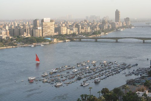 Cairo Air Pollution with less smog - Nile River 1