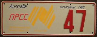 N.P.C.C. 1988 3RD ANNUAL NORTH AMERICAN MEET Souvenir license plate