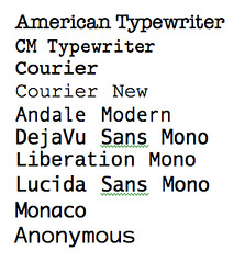 Monospaced Fonts | selected monospaced fonts (except America
