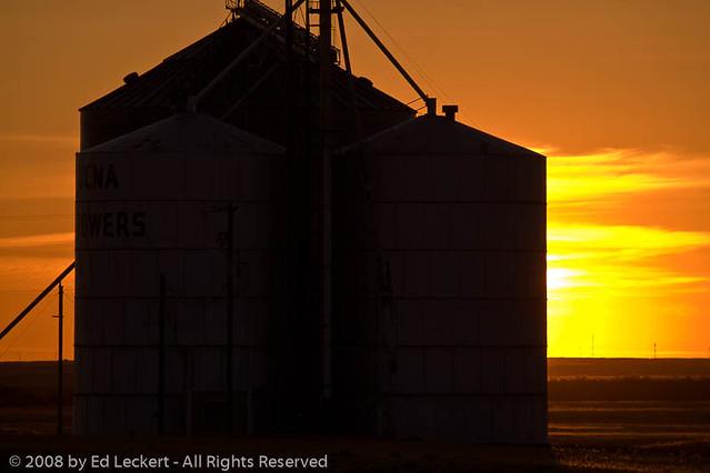 Grain Elevator at Sunset, The Palouse, Washington