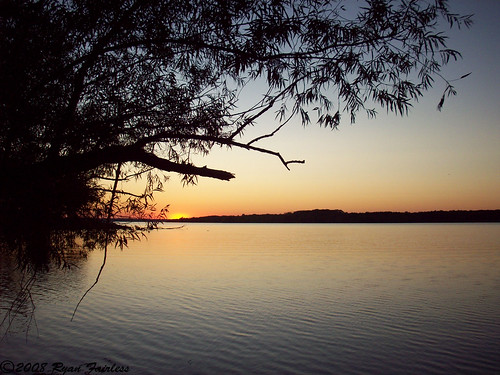 sunset lake water rendlake everydaysunset