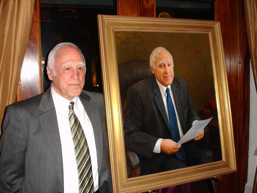Dean Bromberger and portrait, Loyola Law School