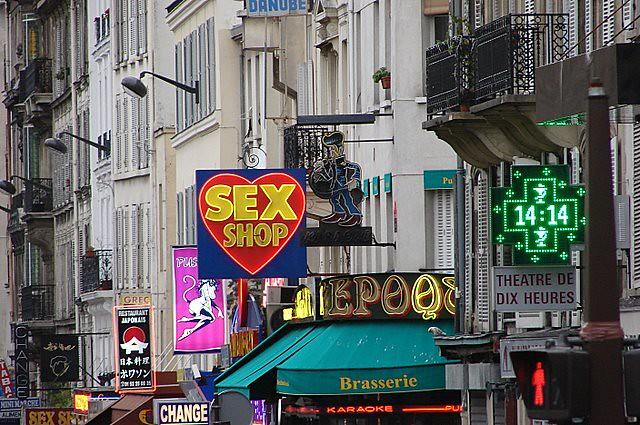 Sex scene rue pigalle paris france