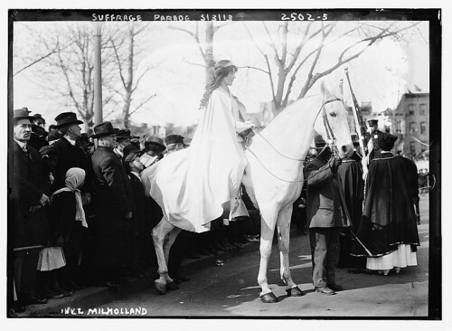 Suffrage parade, Inez Milholland  (LOC) | by The Library of Congress
