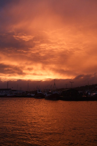 sunset red sky storm clouds liverpool boats fire aftermath sailing harbour burning fishingboats boiling troon campbeltown sailingtroontoliverpool