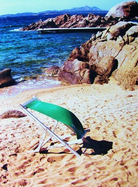 Sardinien - Liegestuhl am Strand