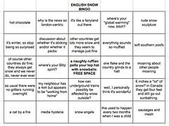english snow bingo | by angel