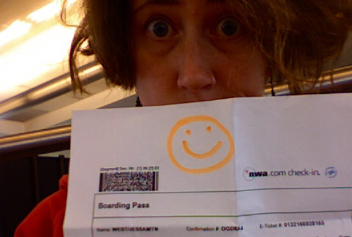 happy TSA worker, or passive aggressive? | by jessamyn
