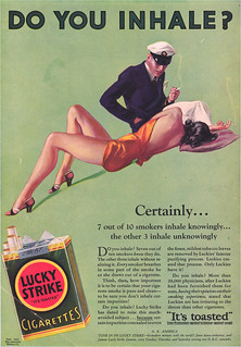 When smoking wasn't evil, advertisement from a tobacco friendlier time | by Jo Hedwig Teeuwisse