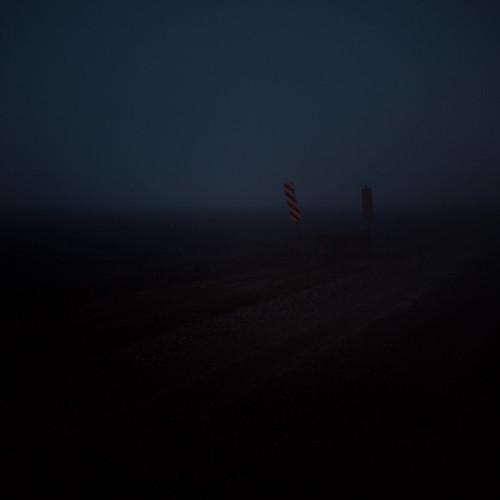bridge blue winter fog night rural dark landscape evening dusk farm country indiana agriculture smalltown boonecounty onelane singlelane