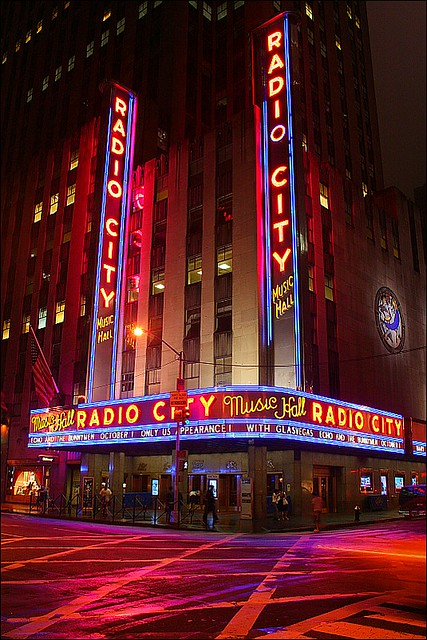 The Radio City Music Hall By Night