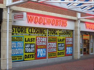 Last Day Of Woolworths In Caerphilly, South Wales
