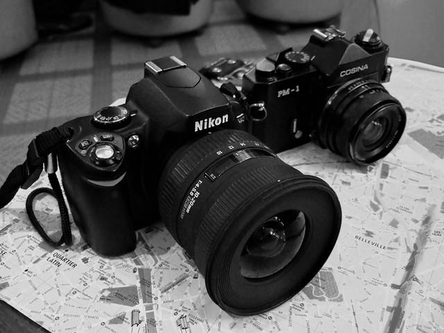 Digital - Film SLR size comparison.