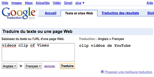 Google translate: Youtube or Vimeo?