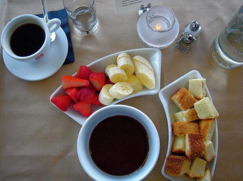Chocolate Fondu for Breakfast