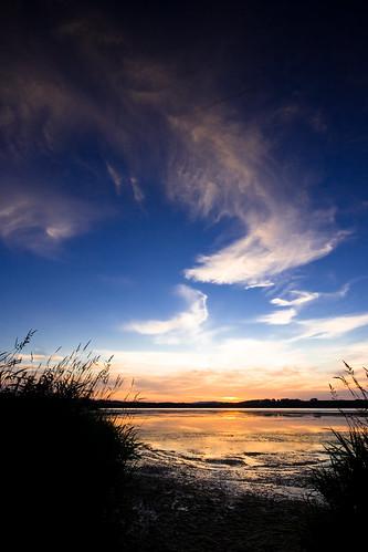 sunset scotland aberdeenshire loch skene