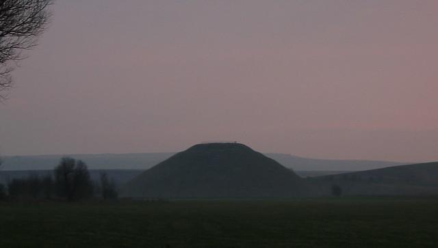 Silbury Hill at Sunset