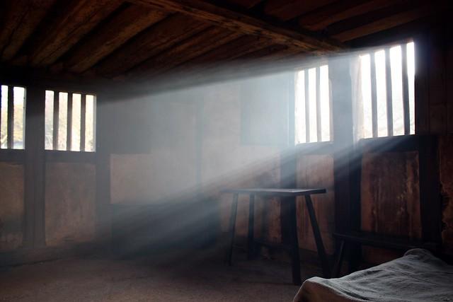 Bayleaf Farmstead.  Smoke-filled Parlour.