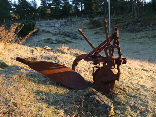 shadow frozen iron plog plow plough bømlo stautland