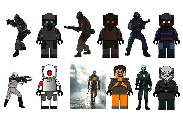 Lego Half Life Minifigs 1 The First Concept Art For My Nex