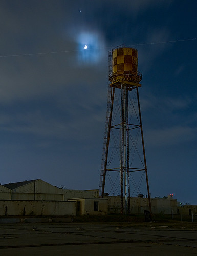 blue moon abandoned night airplane globe factory texas aircraft mound