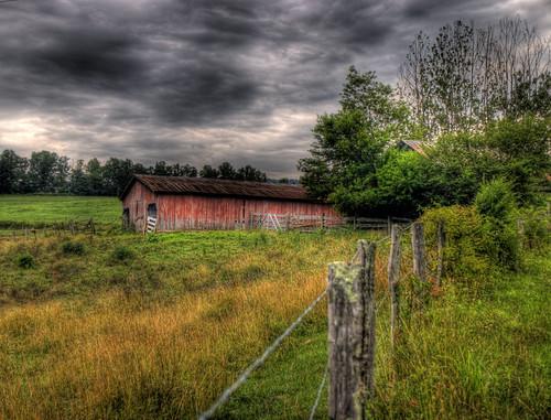 barns hdr northgeorgia countryroads