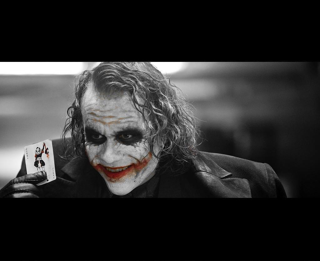 The Dark Knight Joker With Card Wallpaper Bw Djffny Flickr