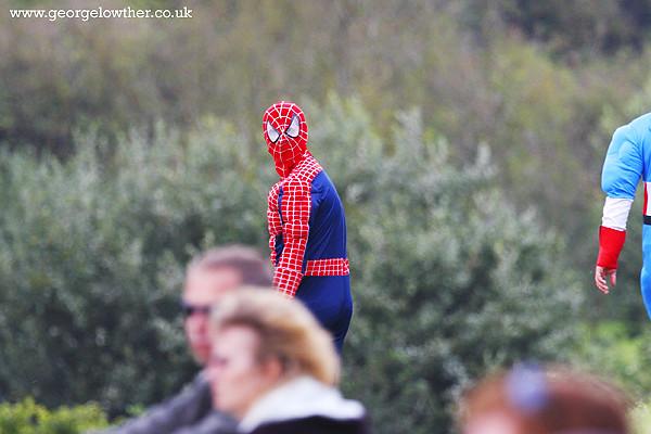 Your friendly neighbourhood Spiderman randomly walking around.