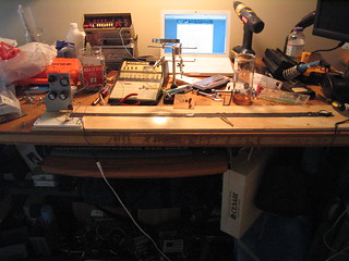 My RSynth on my (messy) workbench