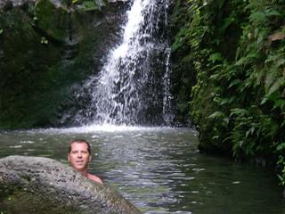 Shane at the waterfall