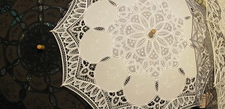 Burano lace umbrellas | by Smitten with Lido