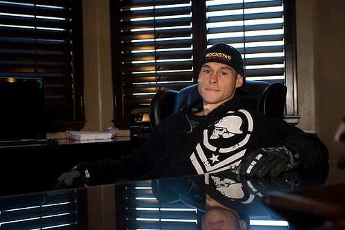 Deegan at his desk