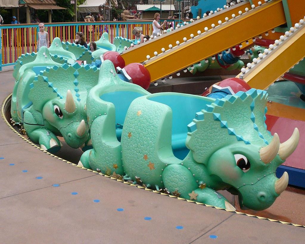 Triceratops Spin Ride Cars Animal Kingdom Michael Gray Flickr