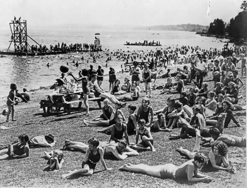 8dd2b6e92e5 Madison Park beach, 1930 | See Item 29786, Don Sherwood Park… | Flickr