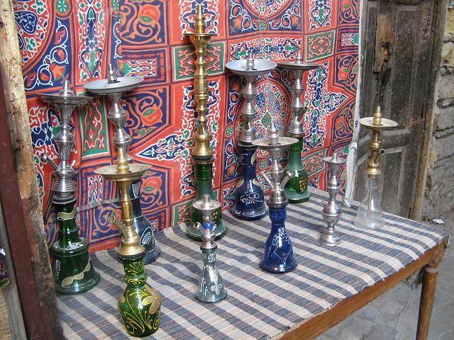 Shisha in a Cairo market