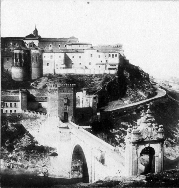 Puente de Alcántara (Toledo) en 1856. Fotografía de Joseph Carpentier