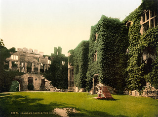 Courtyard, Raglan Castle, Wales, ca. 1895