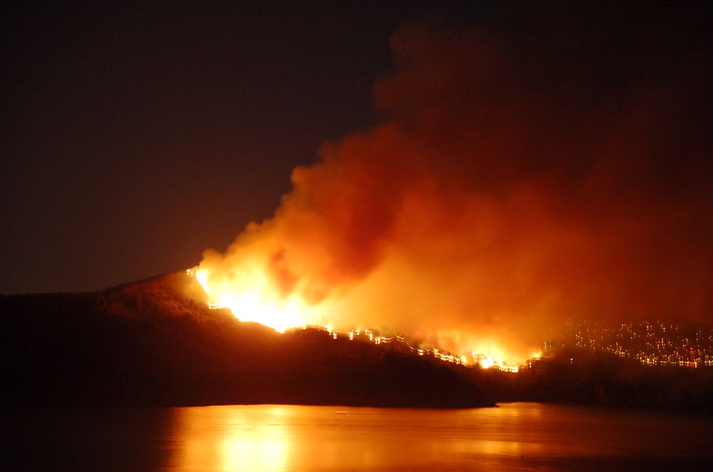Angel Island On Fire Photos Taken Around 10 15pm At The