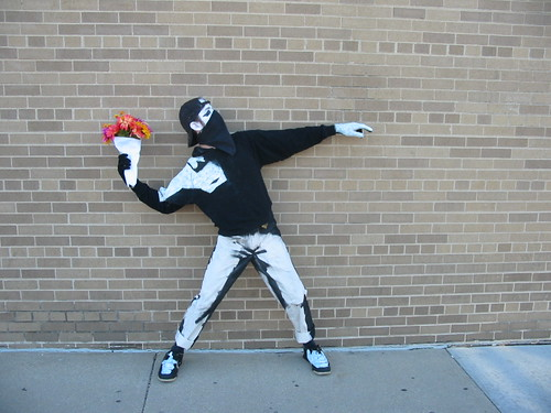 Banksy Costume on a Brick Wall 02 | by littentegnefisk