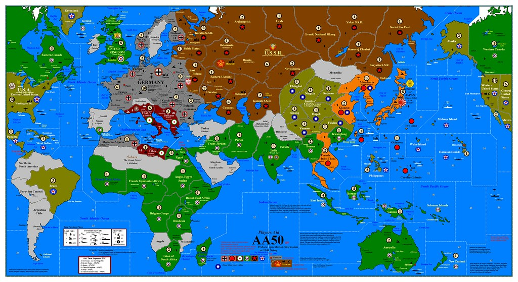axis and allies anniversary edition set up