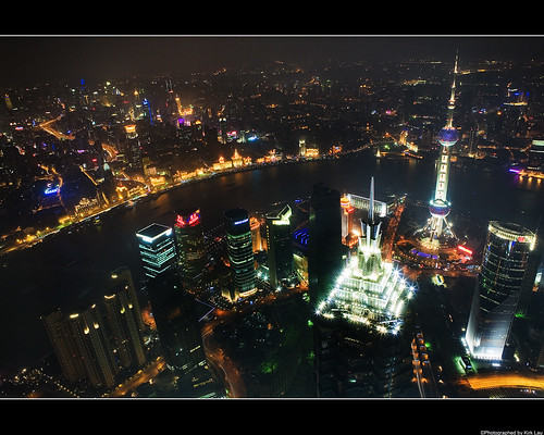 SWFC visit: Shanghai at night (puxi side) - 1280x1024 wallpaper edition!   by kirk lau