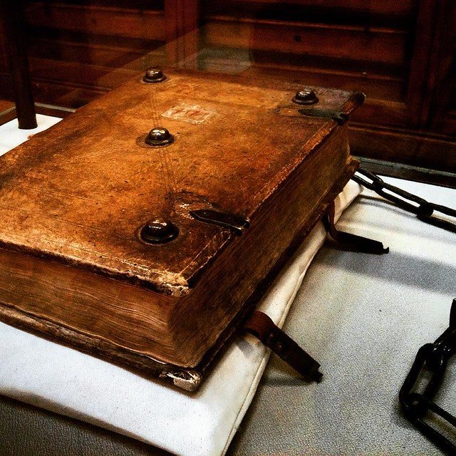 Books so powerful they need to be kept locked and chained #darkmagic #grimoire