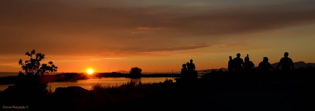 Sunset Silhouette at Garry Point Park - Steveston (Explored)