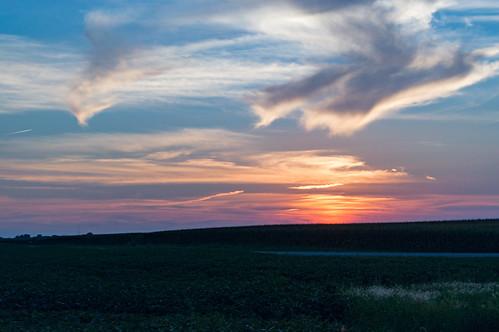 sunset skyscape us illinois unitedstates loami