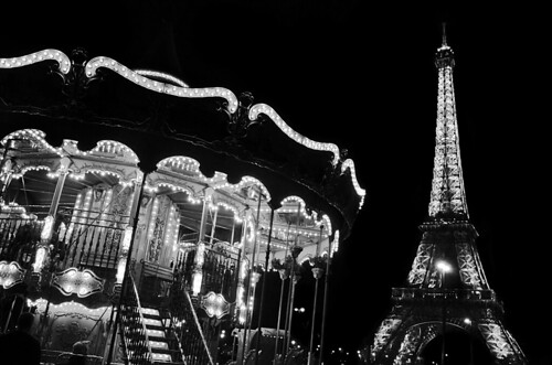 Eiffel tower+carousel [In Explore]   by Sean X. Liu