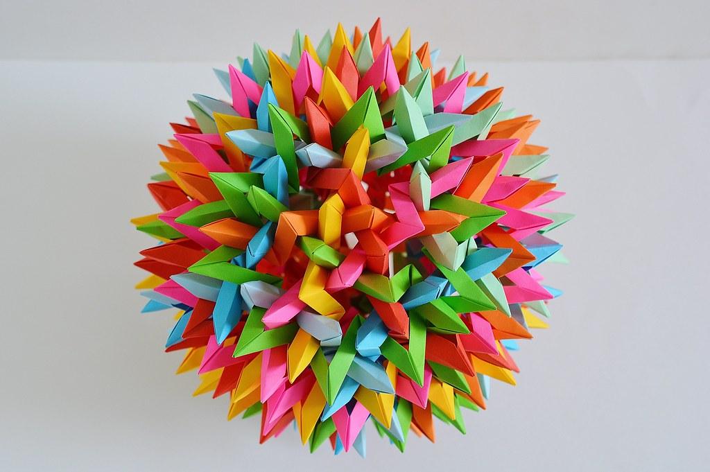 180 Unit Sonobe Buckyball « Math Craft :: WonderHowTo | 681x1024