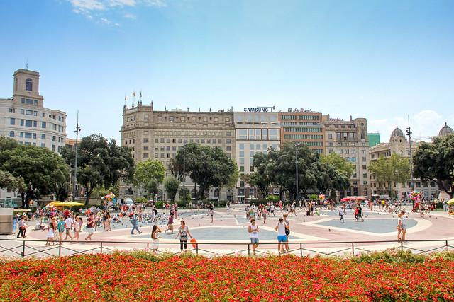 Barcelona Placa de Catalunya view